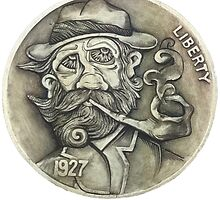 Levi Longwind Hobo Nickel by harpuahound