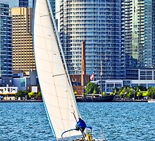 Sailboat in Toronto harbor by Elena Elisseeva