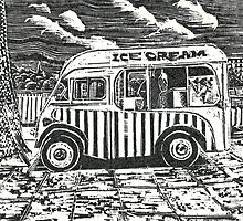 The ice-cream van. by Bob Hickman