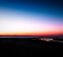 Berarra Beach in the blue hour by Chris Brunton