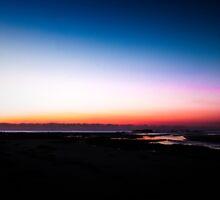 Berarra Beach in the blue hour by Chris Brunton