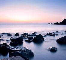 Beautiful serene sunrise in Al Aqqa beach, Fujairah, UAE by naufalmq