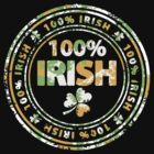 100% Irish St. Patric's Day Stamp by Andrei Verner