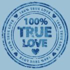 100% True Love Pink St. Valentine's Day Stamp by Andrei Verner