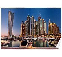Dubai Marina night Poster