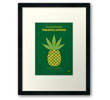 No264 My PINEAPPLE EXPRESS minimal movie poster Framed Print