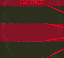 No265 My NIGHTMARE ON ELMSTREET minimal movie poster by Chungkong