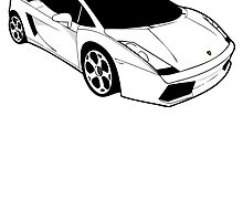 White Lamborghini Gallado by pinner84