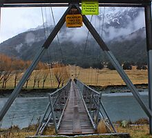 Bridge acros Matukituki River by Charles Kosina