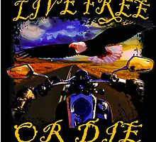 Live Free or Die Biker by desarae