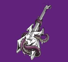 Tentacles Guitar - Vector Design by xanthos84