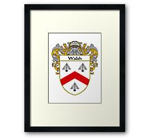 Walsh Coat of Arms / Walsh Family Crest Framed Print