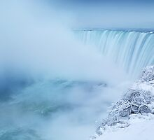 Niagara Falls in Winter Panorama art photo print by ArtNudePhotos