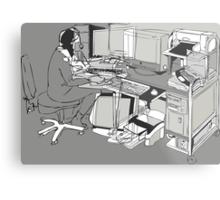 COMPUTER OFFICE WORKER Metal Print