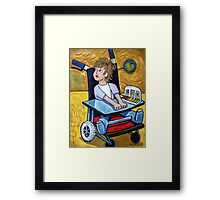 Girl In Cast Framed Print