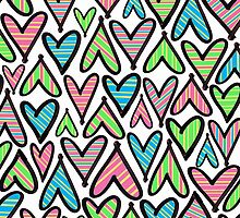 Hearts and Strips by Sigourney Smith