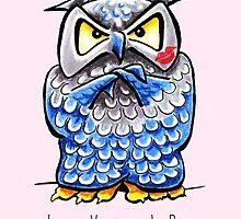 Grumpy Owl Valentine's Day by offleashart