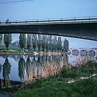 Bridge at Pescheria da Garda Italy 198404220001m  by Fred Mitchell