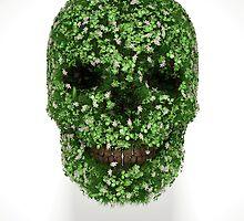 Clover Skull by lukedwyerartist