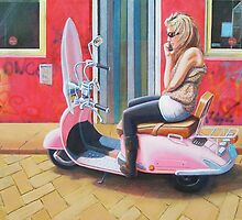 Scootergirl by Bob Hickman