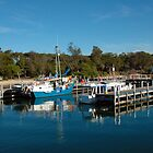 deep blue, Boats Lakes entrance by Glen Johnson