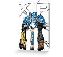 Kombat Tomb Podcast T-Shirt Logo Greeting Card