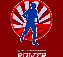 Runner Running Power Retro Poster by patrimonio