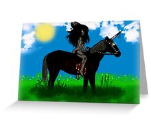 Lady Persiphone and the Unicorn  Greeting Card