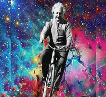 Einstein Riding Through Space by AbsoluteLegend