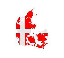 Denmark Danmark Flag Photographic Print