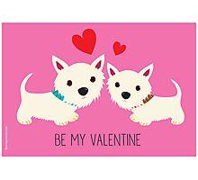 Be My Valentine – Westies Photographic Print