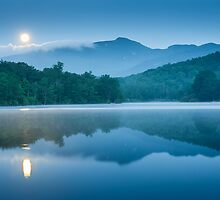 Carolina Blue Moon Reflections by MarkVanDyke
