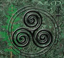 The Ailm Celtic Symbol by GrimalkinStudio