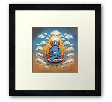 Buddha Bot v5 Framed Print