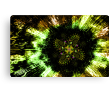 Cosmic Solar Flower Fern Flare Canvas Print