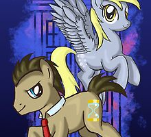 Dr Whooves and Derpy by ProudToSketch