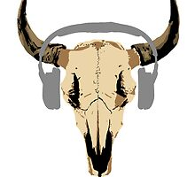 Bison Skull by woodian