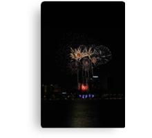 Perth Fireworks  Canvas Print