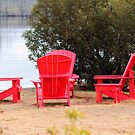 Chairs By the River by WeeZie