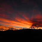 Winter sunset Colorado Springs by dfrahm