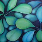 Blue Green Leaves by Georgie Greene