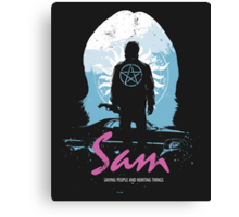 The Song Remains The Same (Sam - Supernatural & Drive) Canvas Print