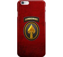 U.S. Special Operations Command - USSOCOM Patch 3D on Red Velvet iPhone Case/Skin