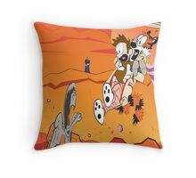 Calvin and Hobbes: Doctor Who From Another Planet! Throw Pillow