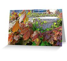 The Floral Tree Stump Greeting Card