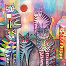 Kitties galore by Karin Zeller