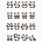 Various feeling of Panda by Toru Sanogawa