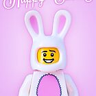 Happy Easter LEGO Print/Card by jarodface