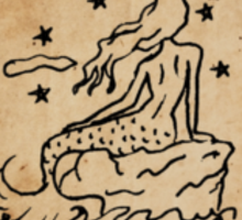 Mermaid Tarot Sticker: The Moon Sticker