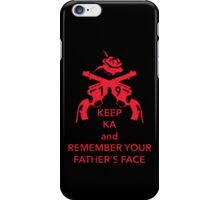 Keep KA - red edition iPhone Case/Skin